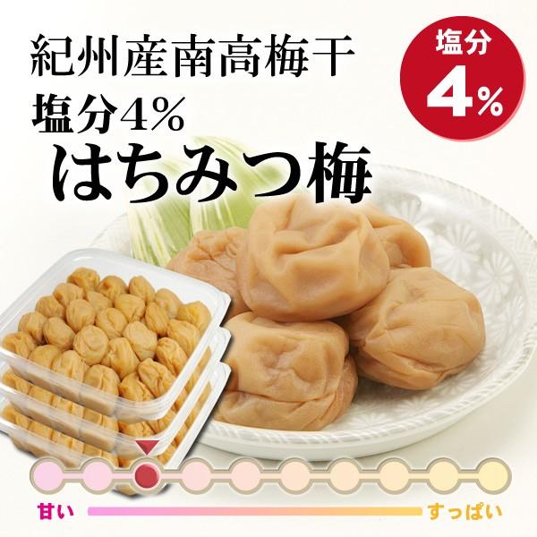和歌山県産紀州南高梅干 塩分4%はちみつ梅