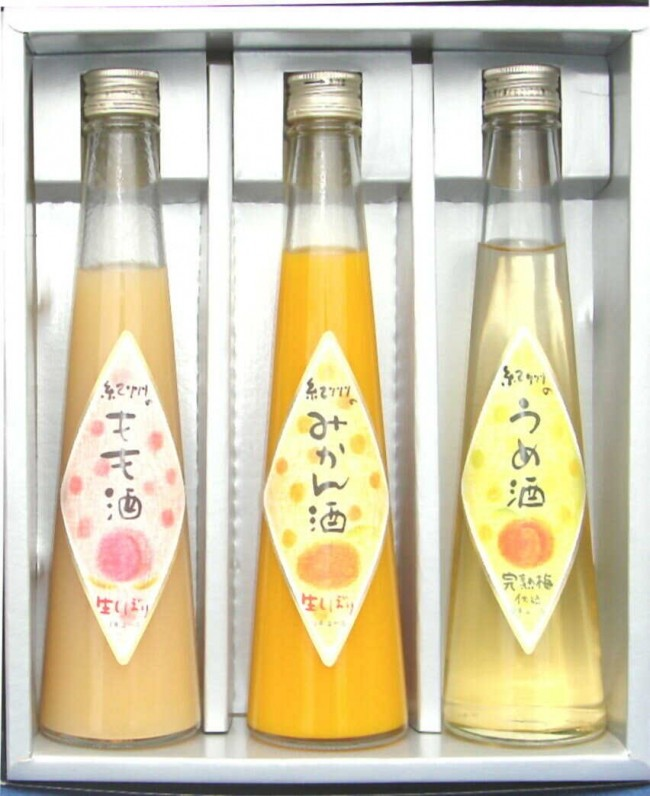 和歌山  くだもの 紀州 フルーツの酒300mlx3本ギフト